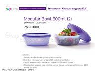 Modular Bowl 600ml Promo Tupperware Desember 2016