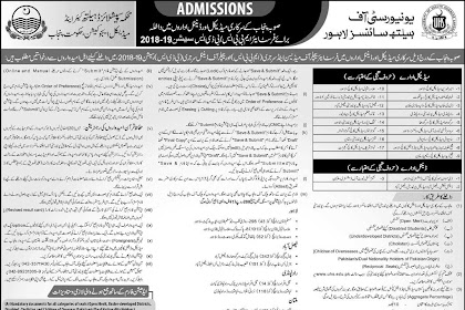UHS MBBS/BDS admission schedule 2019