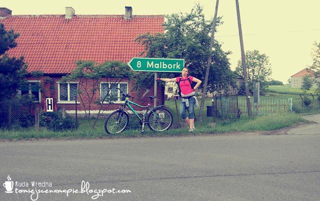 trasa rowerowa ze Stegny na zamek w Malborku