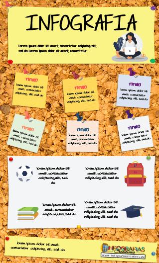 Plantilla de infografía en Word modelo 14