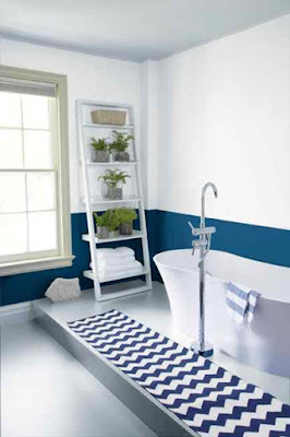 Bathroom+Paint+Ideas-Blue+and+White