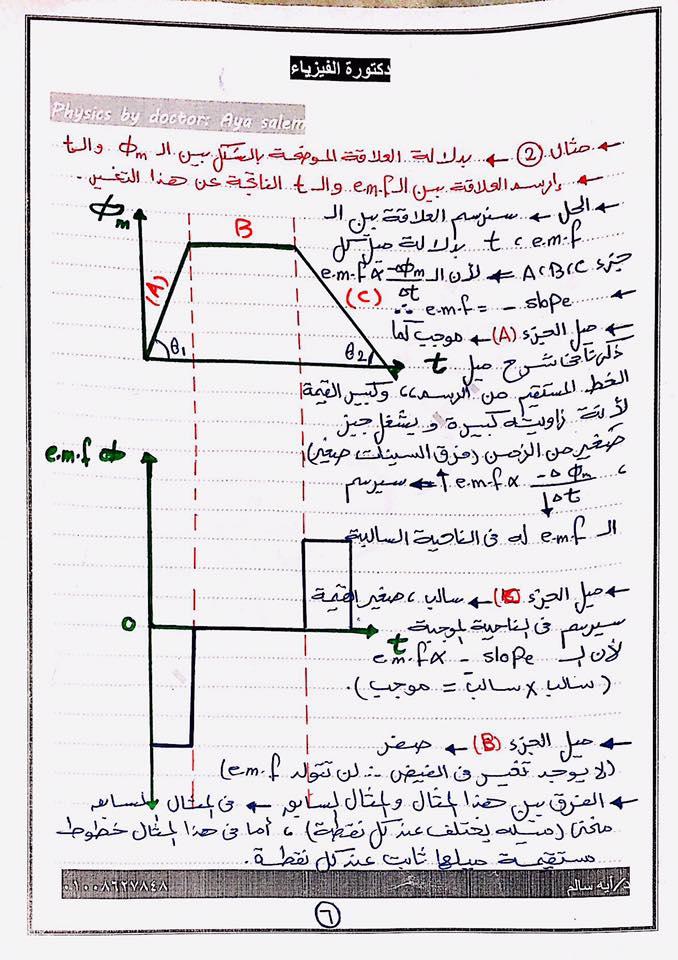 7 ورقات مهمين جدا لمسألة الرسم البياني اللي لازم تيجي أساسية فكل امتحان فيزياء للثانوية 6