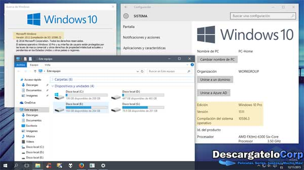 Windows 10 TH2 Build 10586 VL Español