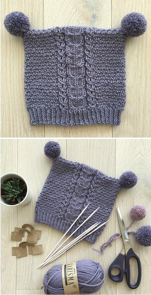 Mishka Hat - Free Knitting Pattern