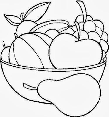 Maestra De Primaria Frutas Y Verduras Para Colorear
