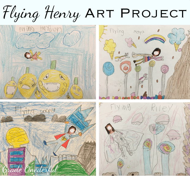 Flying Henry Art Project in Grade 1