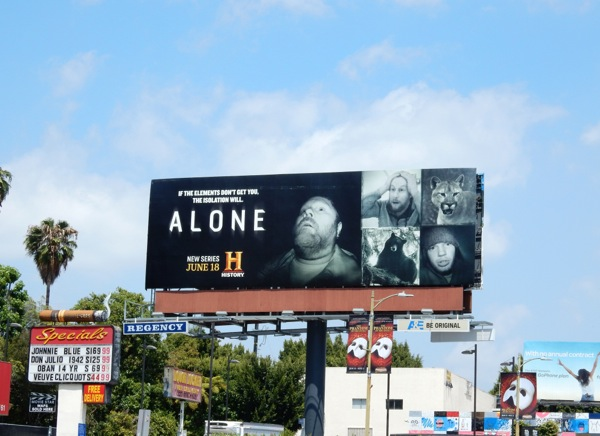 Alone History series billboard