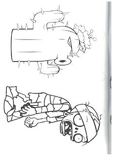 раскраска растения против зомби 2