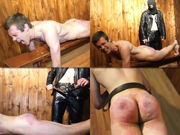 #RusStraightGuys - Sadistic belt spanking for Nikitych 19 y.o.