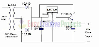 24v 10 amp power supply circuit diagram