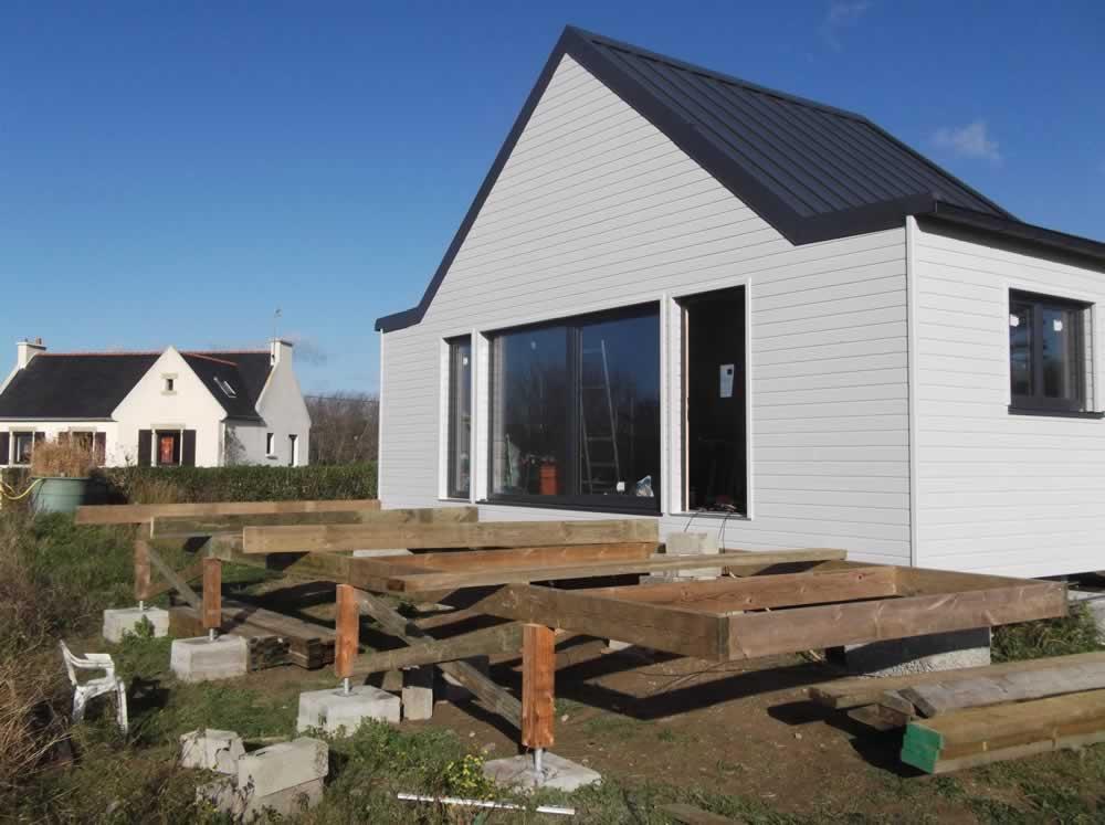 terrasse en bois le montage la maison de kermalero. Black Bedroom Furniture Sets. Home Design Ideas