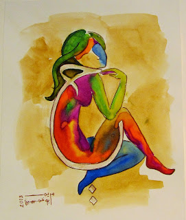 Mariam Bukhamsin Alive Love Sketchat group exhibition Saudi blog