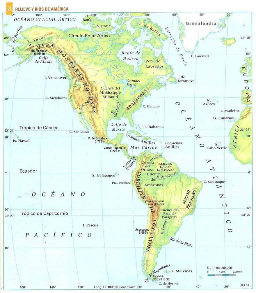 Geografia Física da América