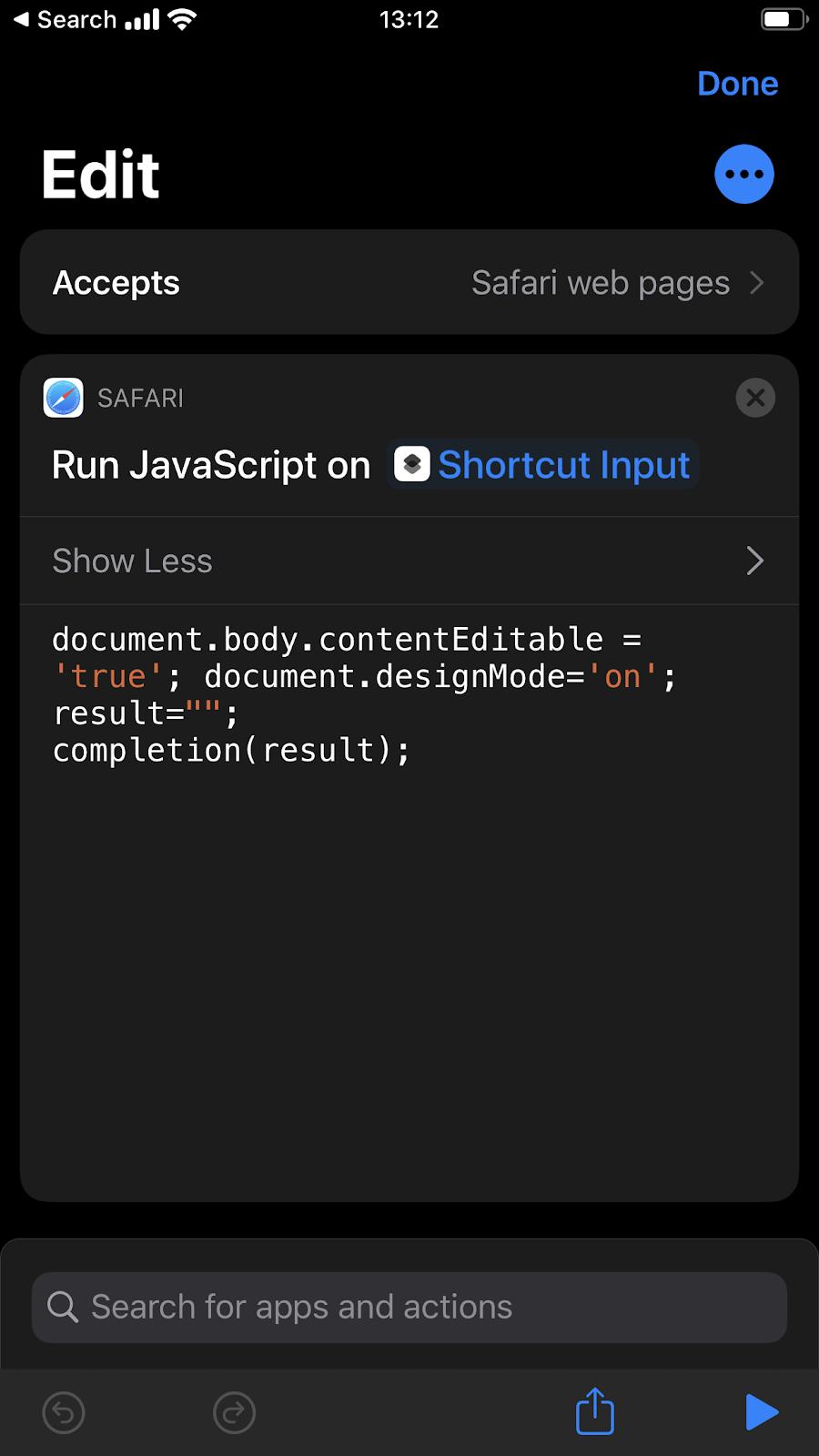 Come modificare una pagina web con Shortcuts
