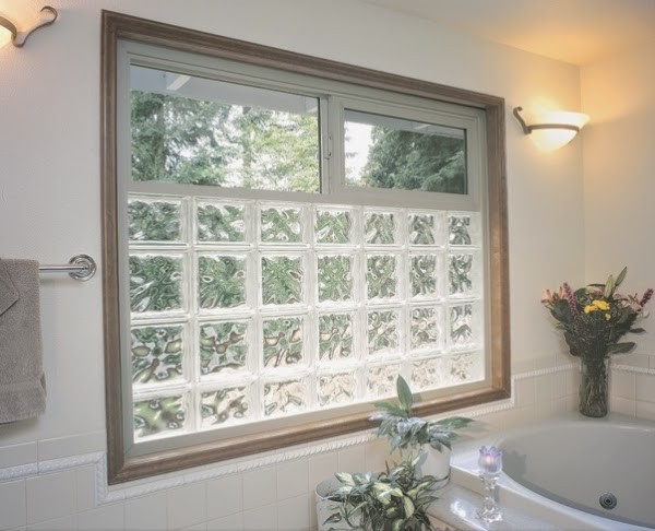 Bathroom Glass Block Windows