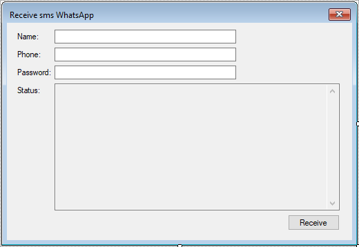 receive sms whatsapp in c#