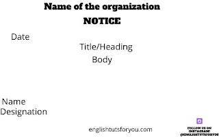 Notice Writing Format