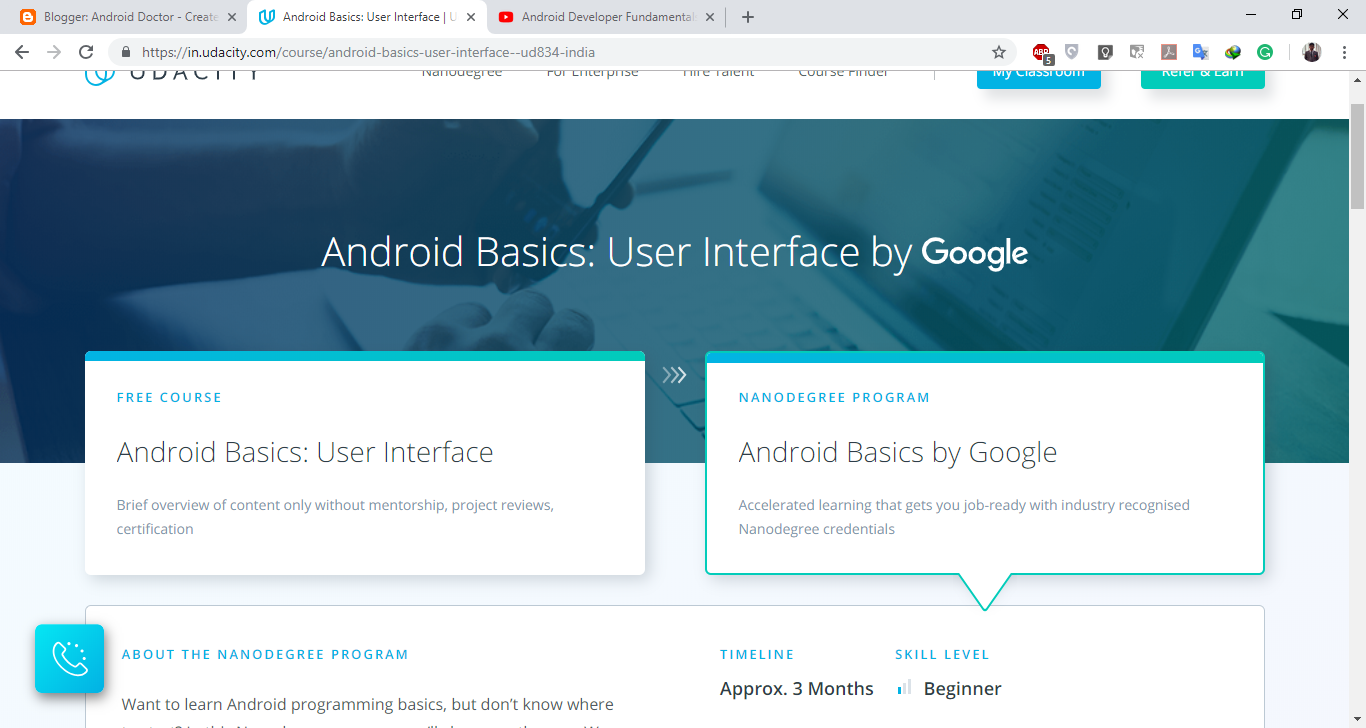 Android app development and training program by Google | Android Doctor