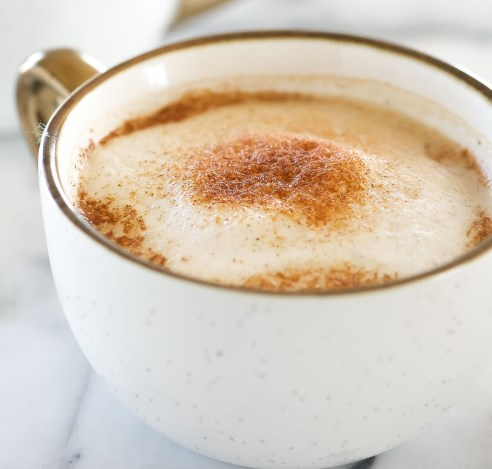Homemade Cinnamon Dolce Latte Recipe #drinks #allergyfriendly