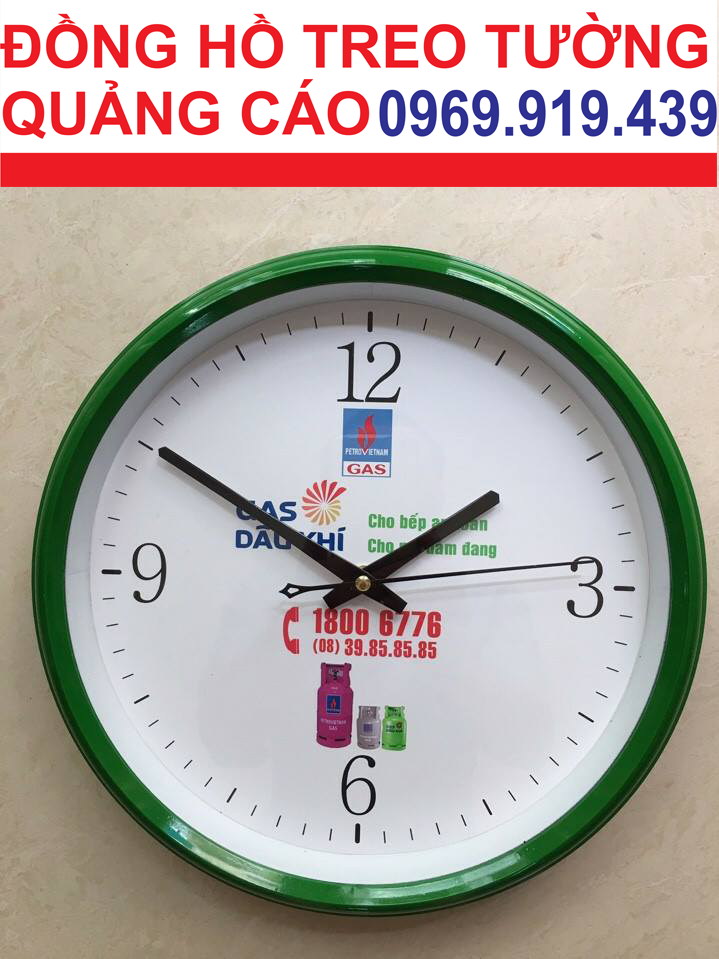 Đồng hồ treo tường quảng cáo cam kết