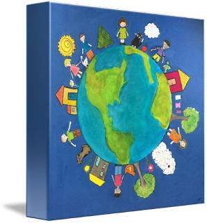 art for children, Christine Quimby Art, Earth Day art