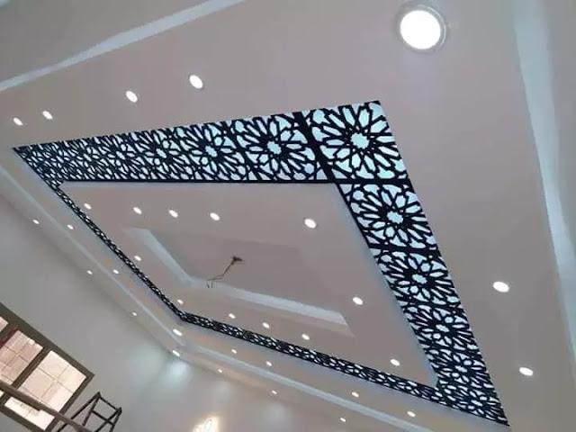 ديكورات خشب cnc أسلوب حديث للحصول على سقف مميز