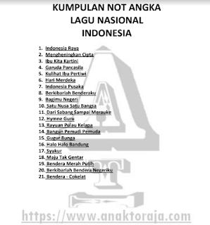 Buku Not Lagu Wajib Nasional Indonesia PDF