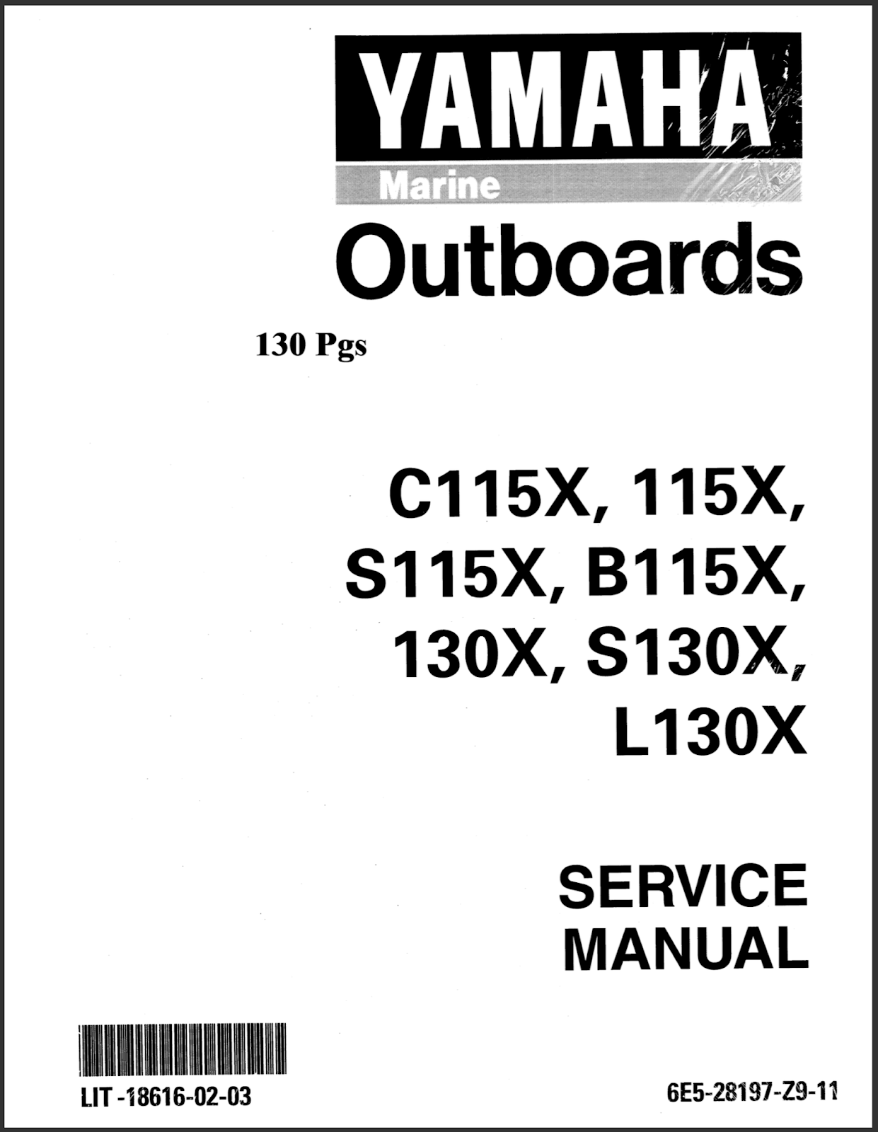 Yamaha Outboard Service Manual: DOWNLOAD Yamaha 115TRY