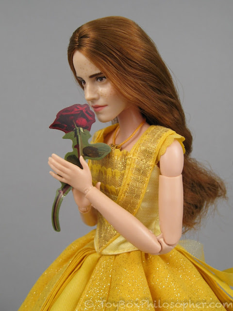 Beauty And The Beasts Belle From Disney Store 3495 Shown On A Barbie Made To Move Body