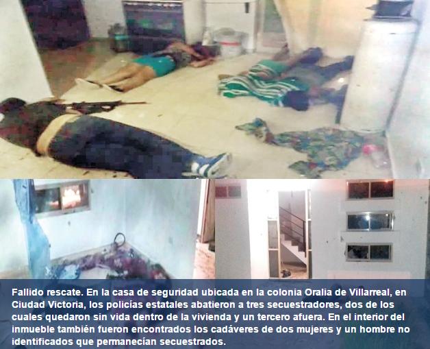 Otro baño de sangre; Ciudad Victoria: van 13 muertos en 18 horas
