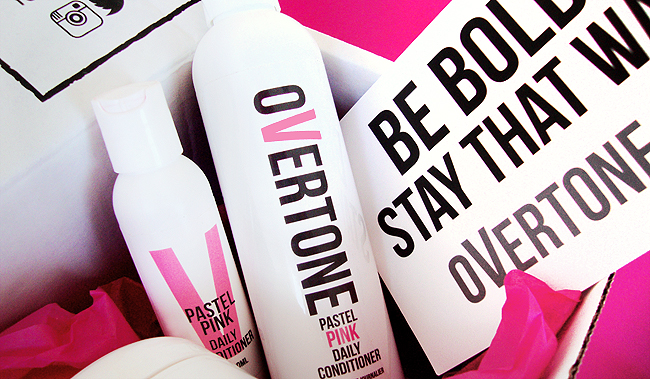 Overtone, pink hair, hair care