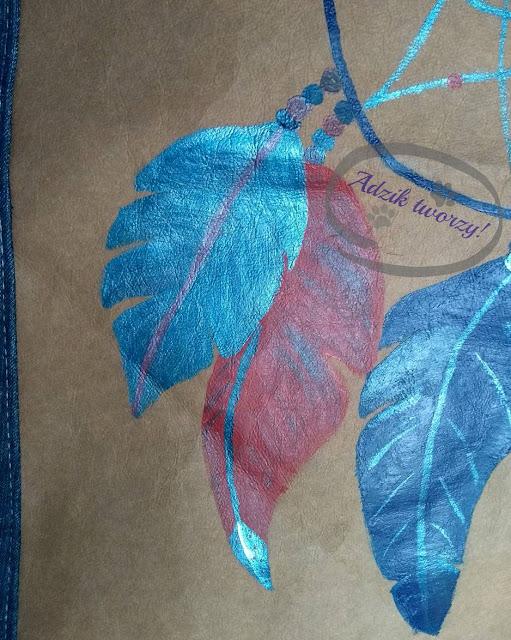 łapacz snów malowanie DIY farbami do tkanin