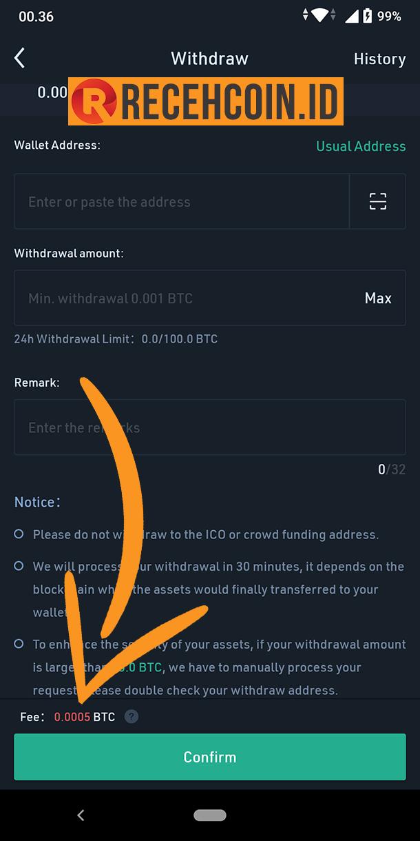 biaya transaksi bitcoin