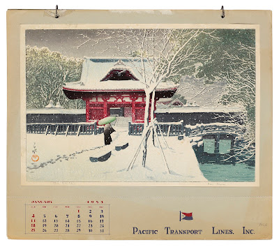 Pacific Transport Lines 1953 calendar