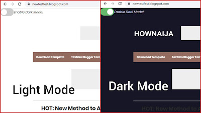 How to Add Light and Dark Mode on Blogger