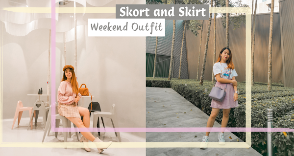 Skort and Skirt | Pastel Weekend Outfit