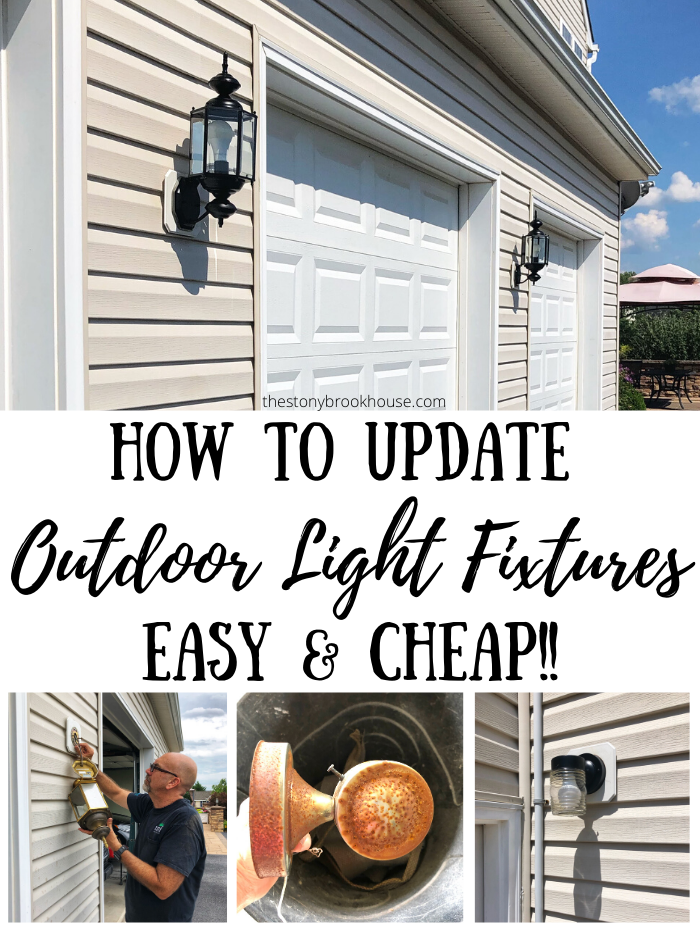 How To Update Outdoor Light Fixtures Easy & Cheap!