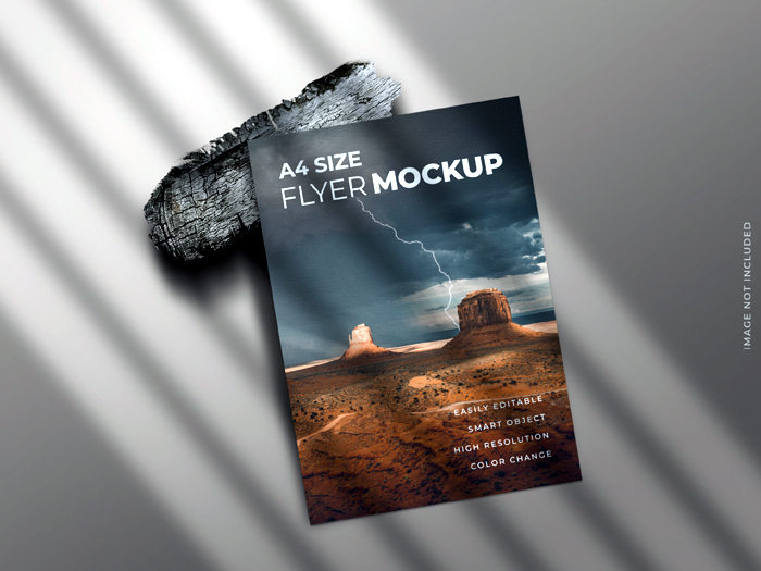 Single Page Flyer Brochure Leaflet Mockup