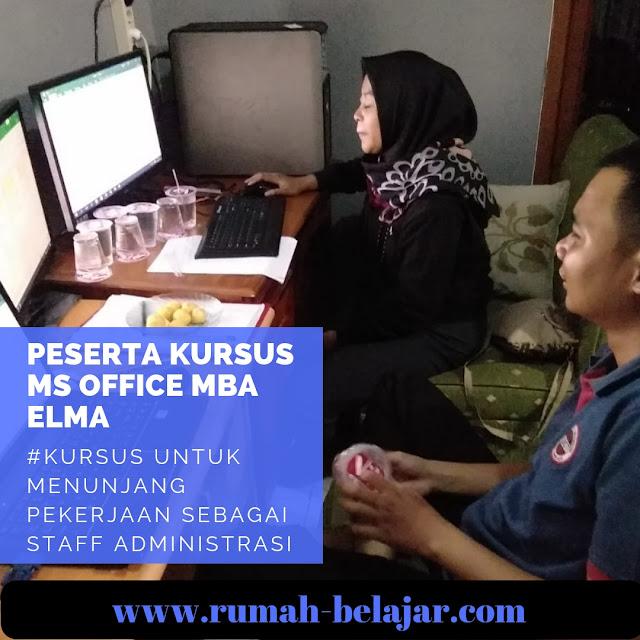 suasana belajar di tempat kursus komputer YMII Course Center Cileungsi