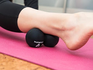 peanut double lacrosse ball for calf muscles