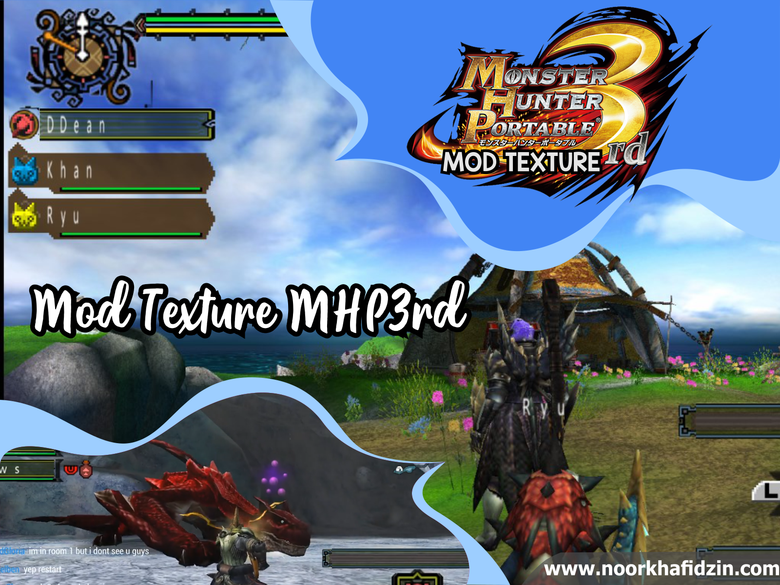 Download Mod HD Texture Pack Monster Hunter Portable 3rd (MHP3rd) PPSSPP