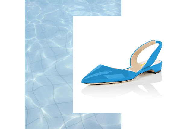 Blue Shoes, Slingback Shoes, Blue Slingback Shoes, FSJ Shoes