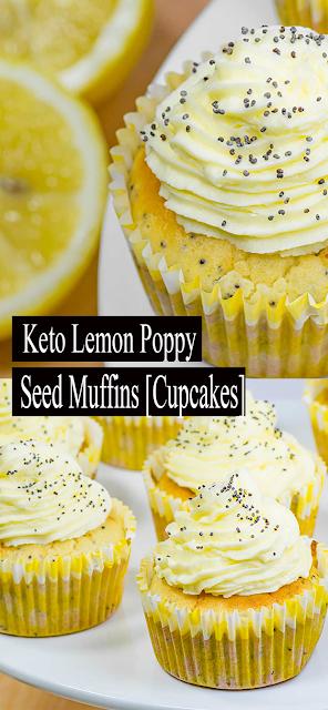 #Keto #Lemon Poppy Seed #Cupcakes