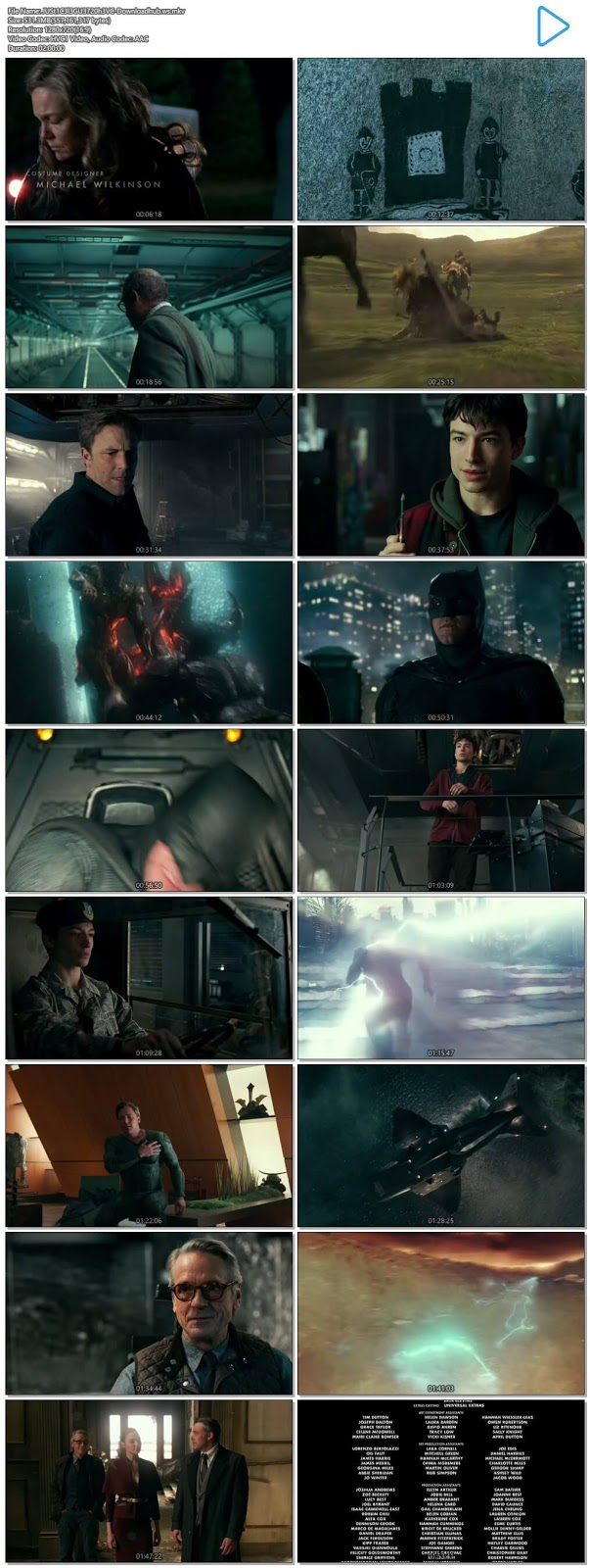 Justice League 2017 English 720p HEVC Web-DL ESubs