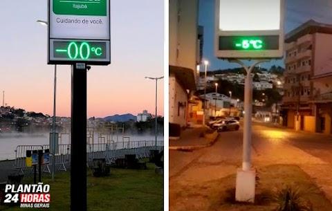 ❄️ Itajubá amanhece com 0ºC e Maria da Fé com -5ºC negativos