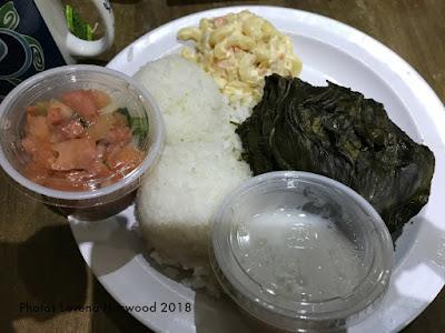 las vegas, Lau lau, lomi salmon, haupia, mac salad, rice, island flavor, Hawaiian