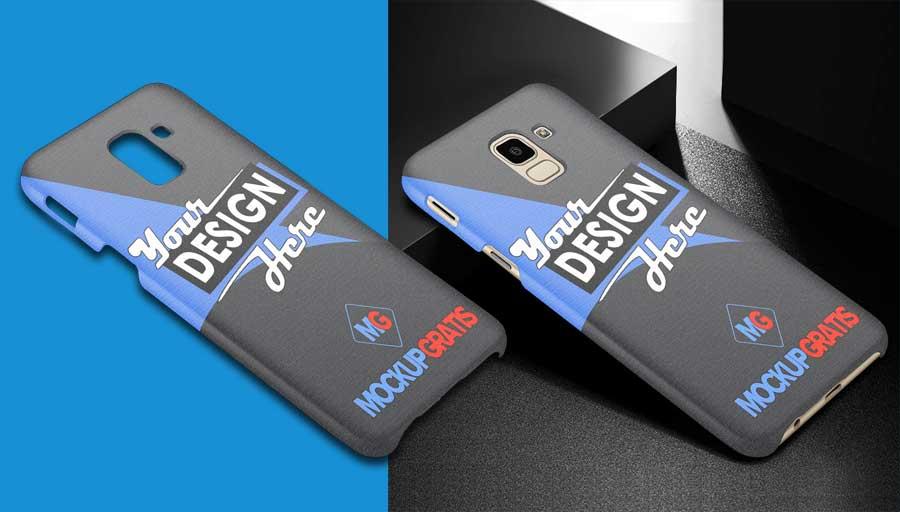 Mockup Custom Case 3D Samsung Galaxy J6 2018 Gratis
