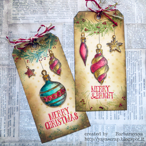 CHRISTMAS TAGS PRODUCTION: LOVE THESE STAMPS!