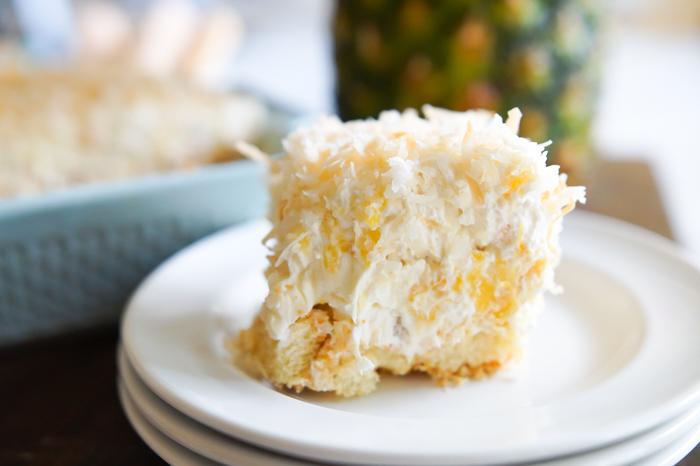 Pineapple Cream Tiramisu : tiramisu with a tropical twist ♥ bakeat350.net for Imperial Sugar