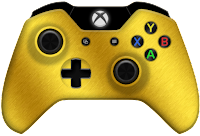 gold xbox one controller